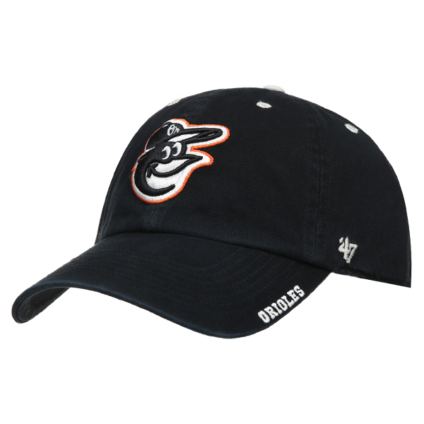 47 [BALTIMORE ORIOLES] WASHED CAP 120 (BK)