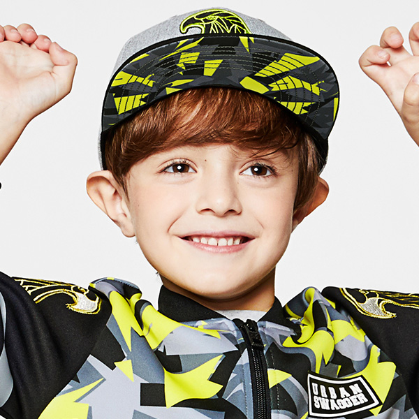 URBAN SWAGGER KIDS SNAPBACK 602 (GY) -키즈